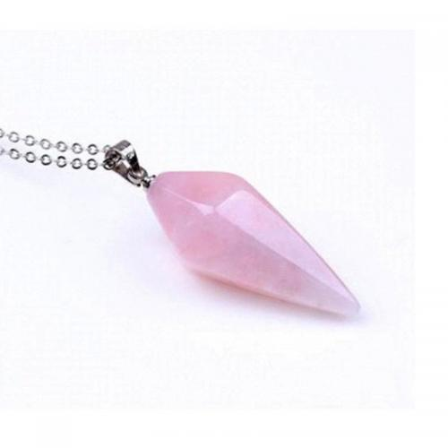 Beautiful Light Amethyst Natural Quartz Pendant Necklace